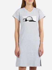 Hand Sketched Ferret Women's Nightshirt