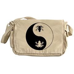 Yin Yang Frog Messenger Bag
