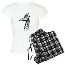 Hand Drawn Giraffe Pajamas