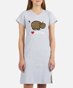 I Love Hippo Women's Nightshirt