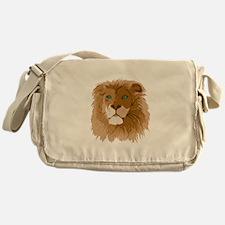 Realistic Lion Messenger Bag
