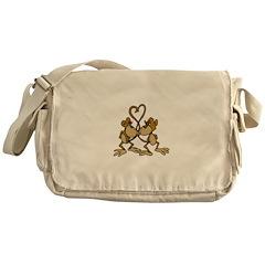 Monkeys In Love Messenger Bag