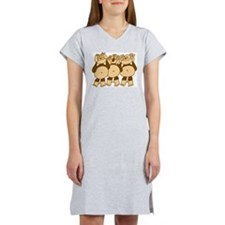 See No Evil Monkeys Women's Nightshirt