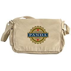 Certified Panda Lover Messenger Bag