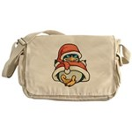 Christmas Penguin Messenger Bag