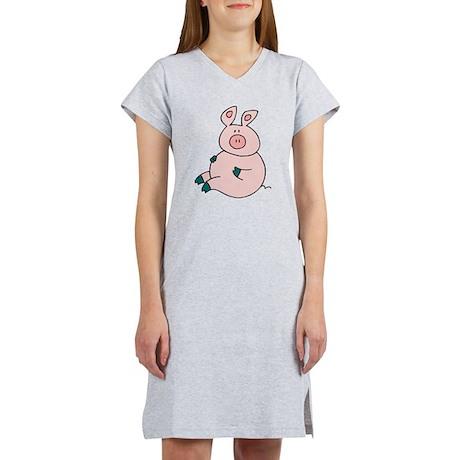 Cute Pig Women's Nightshirt