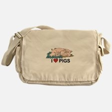 I Love Pigs Messenger Bag