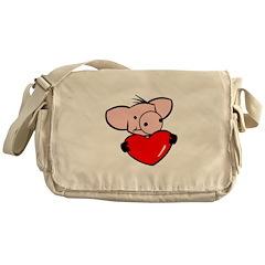 Love Pig Messenger Bag