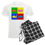 Pop Art Rabbit Men's Light Pajamas