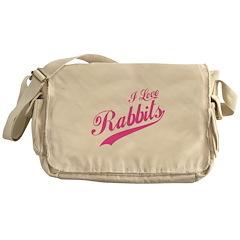 I Love Rabbits Messenger Bag