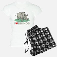 I Love Rhinos Pajamas