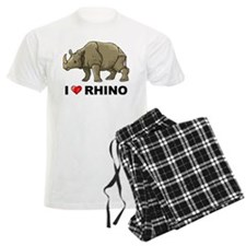 I Love Rhino Pajamas