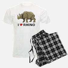 I Love Rhino Pajamas