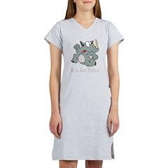 R is for Rhino Women's Nightshirt