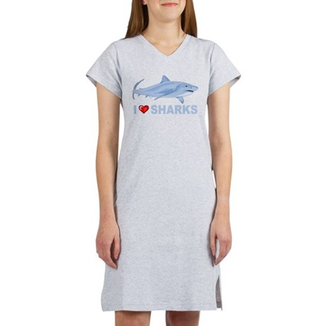 I Love Sharks Women's Nightshirt