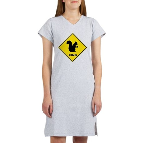 Squirrel Crossing Women's Nightshirt