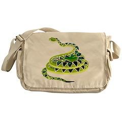 Green Snake Messenger Bag