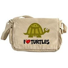 I Love Turtles Messenger Bag