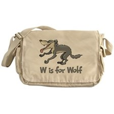 W is for Wolf Messenger Bag