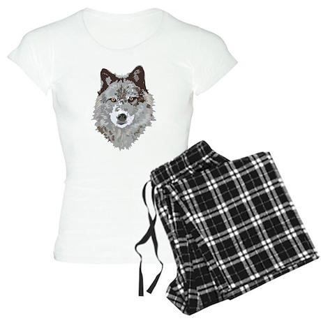 Wolf Illustration Women's Light Pajamas