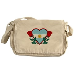 Heart Argentina Messenger Bag