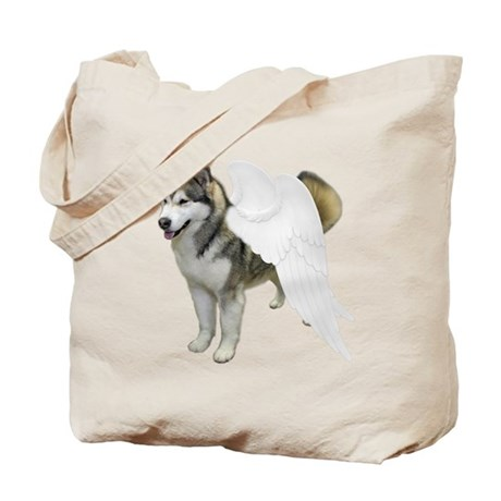 Malamute Angel Tote Bag