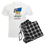 Australia Kangaroo Men's Light Pajamas