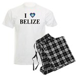 I Love Belize Men's Light Pajamas