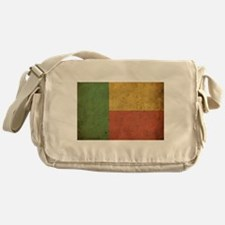 Vintage Benin Flag Messenger Bag