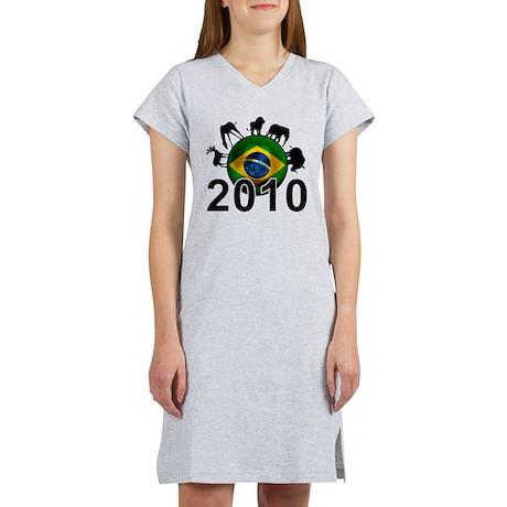 Brazil World Cup 2010 Women's Nightshirt