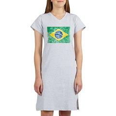 Vintage Brazil Flag Women's Nightshirt