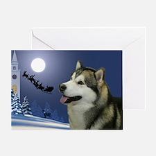Santa's Malamute Card
