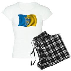 Wavy Santiago Flag Pajamas