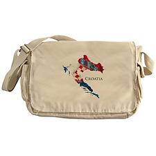 Map Of Croatia Messenger Bag