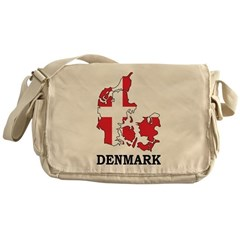 Denmark Map Messenger Bag
