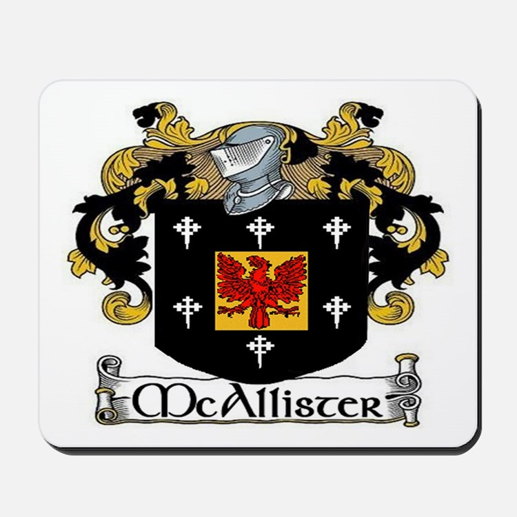 McAllister Coat of Arms Mousepad
