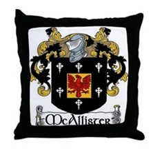 McAllister Coat of Arms Throw Pillow