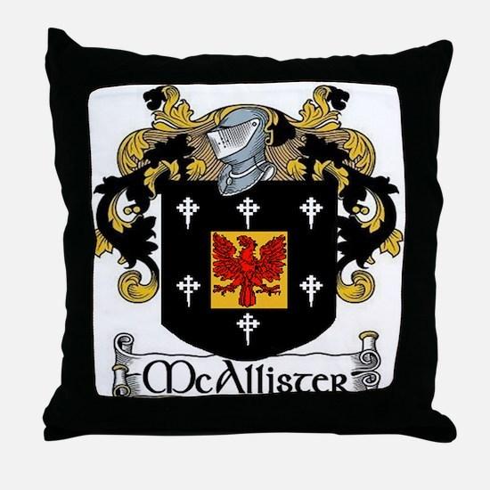 McAllister Coat of Arms Throw Pillow