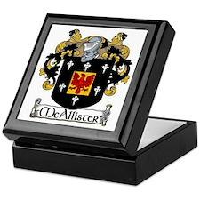 McAllister Coat of Arms Keepsake Box
