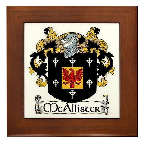 McAllister Coat of Arms Framed Tile