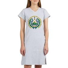 El Salvador Coat Of Arms Women's Nightshirt