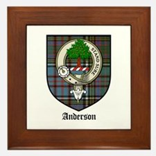 Anderson Clan Crest Tartan Framed Tile