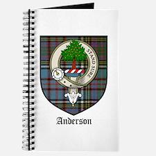 Anderson Clan Crest Tartan Journal