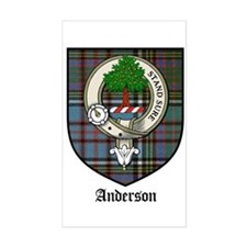 Anderson Clan Crest Tartan Rectangle Bumper Stickers