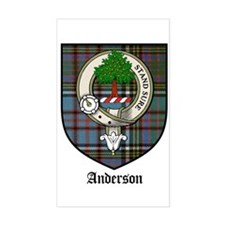 Anderson Clan Crest Tartan Rectangle Decal