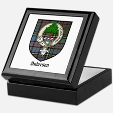 Anderson Clan Crest Tartan Keepsake Box