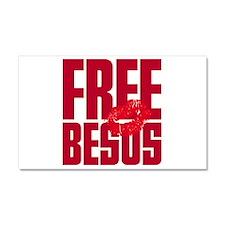 Free Besos Car Magnet 20 x 12