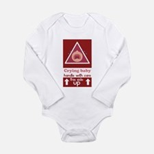 Long Sleeve Bodysuit Crying baby, handle with care