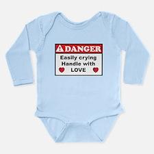 Long Sleeve Bodysuit, Danger handle with love
