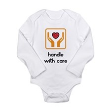 Long Sleeve Infant Bodysuit, handle with care